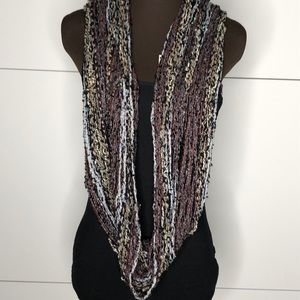 Grey/Tan/Black Sequin Infinity Scarf